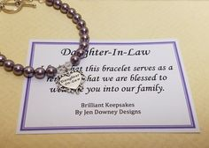 Bracelets For Ladies: Pearl Daughter In Law Wedding Gift Keepsake Sterling Silver - TalkFashion Daughter In Law Gifts, Heart Charm, Wedding Gifts, Engagement, Pearls, Unique Jewelry, Sterling Silver, Lady, Handmade