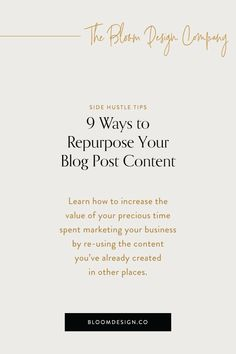 20 Blog Post Ideas for Product-based Creatives | The Bloom Design Company Instagram Marketing Tips, How To Create Infographics, Creative Business, No Time For Me, Repurposed, About Me Blog, Content, Teaching, How To Plan