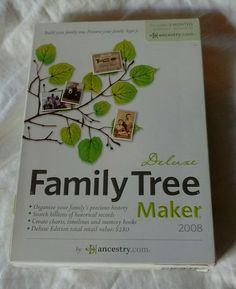 Family Tree Maker Deluxe 2008 for Windows Full Retail SEALED NEW #Broderbund