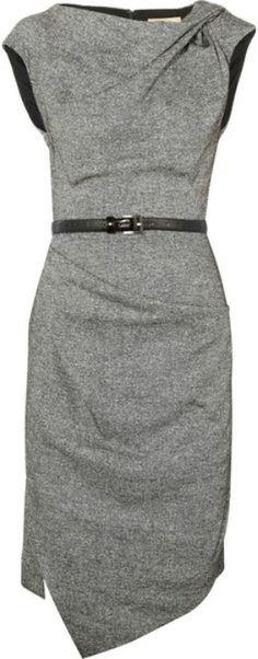 michael-kors-draped-wool-and-silkblend-tweed-dress-black