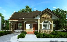 Bungalow house designs series, PHP-2015016 is a 3-bedroom floor plan with a total floor area of 90 sq.m.. If you have a parcel of land with at least 12 meter frontage and minimum 160 sq.m. lot area...