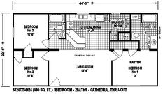 Very Small House Plans | mobile home floor plan is a very affordable design. This floor plan ...