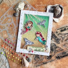 Karla Yungwirth Designs: Kraftin' Kimmie Stamps July New Release Sneak Peeks Day 2- Be A Mermaid!