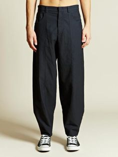 10A Suspender Trouser Company Men's Wide Leg Trousers From AW 12 Collection In Blue