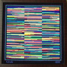 Actually - this is needlepoint - great idea for all those left over bits