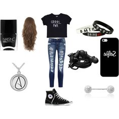 Casual by noely-jones on Polyvore featuring Valfré, Current/Elliott, Converse, Elise Dray, Urbanears, Casetify and Nails Inc.