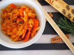 Kimchi, Carrots, Homemade, Vegetables, Food, Home Made, Essen, Carrot, Vegetable Recipes