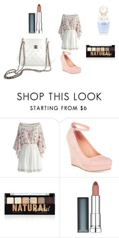 Date With Niall by one6-direction on Polyvore featuring Chicwish, Material Girl, Chanel, NYX, Maybelline and Marc Jacobs