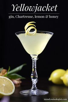 Classic Gin Cocktails, Spring Cocktails, Cocktail Drinks, Cocktail Recipes, Alcoholic Drinks, Cocktail Garnish, Drinks Alcohol, Cocktail Glass, Craft Cocktails