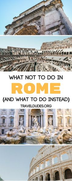 A guide of 10 things not to do as a tourist in Rome. Stay safe on the streets and don't accept anything from strangers. Learn how to visit the Vatican for free and how to avoid expensive tourist menus and eat authentic Italian food. These tips will keep you safe while in Rome. and provide you with an authentic travel experience. Travel in Italy.   Travel Dudes Travel Community #Rome #Italy
