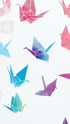 watercolor paper cranes