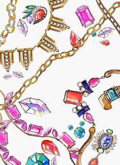 𝕋𝕙𝕖 Ⓓ𝕚𝕧𝕒𝕤 ℂ𝕝𝕦𝕓𝕖 | 𝐯𝐢𝐬𝐭𝐚-𝐬𝐞 𝐝𝐞 𝐀𝐮𝐭𝐨𝐞𝐬𝐭𝐢𝐦𝐚 !: COMO USAR JÒIAS: OS COLARES NA CONSTRUÇÃO DA SUA IMAGEM Jewellery Sketches, Jewelry Drawing, Jewelry Sketch, Jewelry Illustration, Illustration Art, Illustration Fashion, Tiffany Jewelry, Liz Clements, Inka Williams