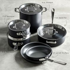 All-Clad NS1 Nonstick Induction 10-Piece Cookware Set #williamssonoma