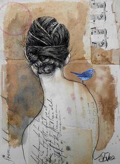 "Saatchi Art Artist: Loui Jover; Ink 2015 Drawing ""long way away... ((SOLD))"""