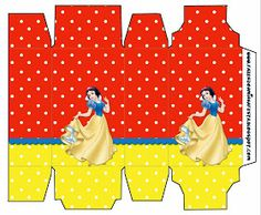 Blancanieves: Cajas para Imprimir Gratis.