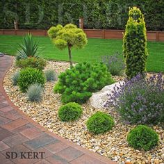 17 easy diy backyard landscaping on a budget 00016 Front Garden Landscape, Front Yard Landscaping, Landscape Design, Landscaping Ideas, Garden Yard Ideas, Backyard Garden Design, Garden Art, Back Gardens, Outdoor Gardens