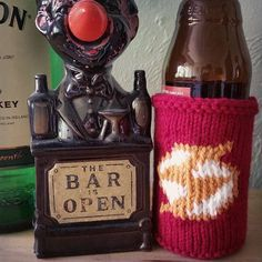 Listed the flash coozie on the shop. Link is on my profile. by knitatthebar