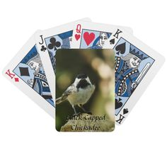 Black Capped Chickadee Playing Cards
