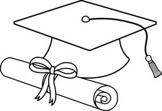 Graduation Cap Line Art - Free Clip Art Graduation Clip Art, Graduation Templates, Kindergarten Graduation, Graduation Decorations, Graduation Cards, College Graduation, Graduation Cap Clipart, Templates Printable Free, Free Printables