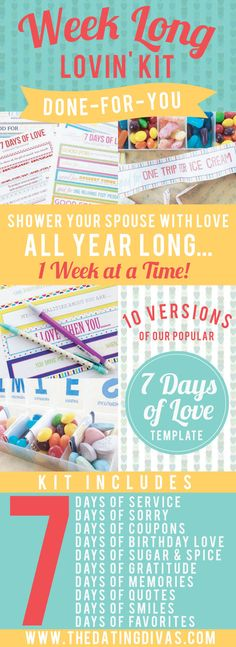 I am LOVIN' this Week Long Lovin Kit! Service, quotes, birthdays... whatever the occasion- this kit has got it covered.