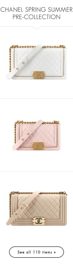 """CHANEL SPRING SUMMER PRE-COLLECTION"" by eenn ❤ liked on Polyvore featuring jewelry, chanel, white jewelry, bags, handbags, chanel purse, man bag, flap bag, pink handbags and pink bag"