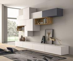 Mueble modular de pared composable lacado SLIM 88 by Dall'Agnese