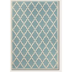 Couristan Monaco Ocean Port Turquoise/Sand Indoor/Outdoor Area Rug