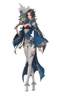 ArtStation - DaeGyo, WonJo Jung / HEX Chica Fantasy, Anime Art Fantasy, Fantasy Art Women, Fantasy Girl, Fantasy Artwork, Female Character Concept, Fantasy Character Design, Character Design Inspiration, Character Art