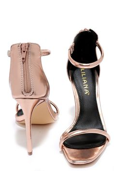 6884972cb81 Keen Eye Rose Gold Ankle Strap Heels