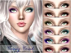 Pralinesims' Candy Crush Eyeshadow http://www.thesimsresource.com/artists/Pralinesims/downloads/details/category/sims3-makeup-eyeshadow/title/candy-crush-eyeshadow/id/1239235/