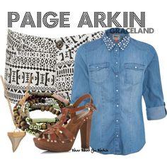Inspired by Serinda Swan as Paige Arkin on Graceland.