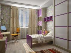 Современный интерьер детской комнаты для девочки