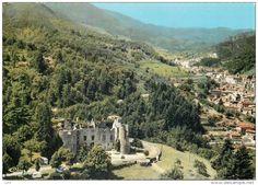 Le Cheylard - LE CHEYLARD - Vue Aérienne Le Château de la Chèze et le Cheylard - Ardèche 07160 Ac CR 205-79 A - Cp Couleur Dentelée