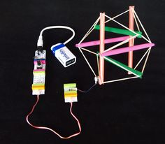 Build a tensegrity structure with littleBits for an easy robot project that's fun for kids. Diy Projects Tech, Projects For Kids, Diy For Kids, Kids Crafts, Project Ideas, Robotics Projects, Arduino Projects, Literacy Programs, Library Activities