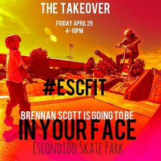 Instagram #skateboarding photo by @escondidorec - Tomorrow from 4 to 10pm #followus and participate in the first ever Escondido Friday Instagram Takeover! @brennan_scott_ is running our account from 4 to 10pm from the Escondido Skate Park at the @escsportscenter.  Use the #escfit to interact live with @brennan_scott_ and be entered into the giveaways! #escondido #friday #instagram #Takeover #escorec #skatepark #sportscenter #scootering #smx #bmx #skateboarding #scoot @thescooterfarm…