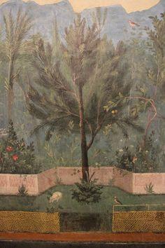 Villa di Livia - Pittura di giardino - Particolare 5 - Roma, Palazzo Masimo alle Terme