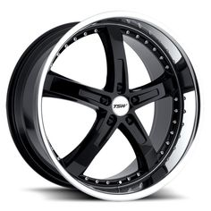 TSW JARAMA BLACK POLISHED alloy wheels with stunning look for 5 studd wheels in BLACK POLISHED finish with 17 inch rim size