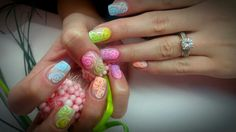#nails #flowernails