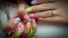 #nails #flowernails