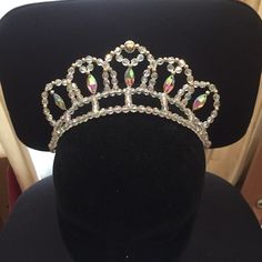 Ballet tiara with eye shaped jewels - lots of colours available