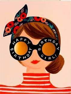 Hipster birthday girl - #birthday #girl #Hipster