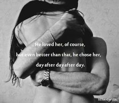 he chose her
