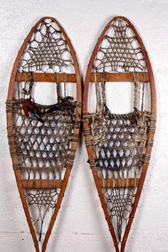 Vintage Snowshoes Rustic Cabin Decor