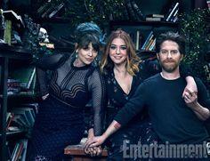 Amber Benson (Tara), Alyson Hannigan (Willow), and Seth Green (Oz)