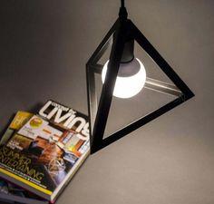 Iron Pyramid Pendant Light Stylish Chandelier Kitchen