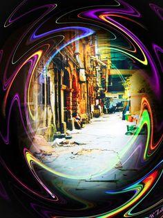'Shanghai Altstadt vor dem Abriss' von Walter Zettl bei artflakes.com als Poster oder Kunstdruck $22.17