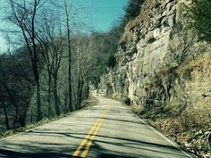Road along the Caney Fork River.  Smith County, Tennessee.