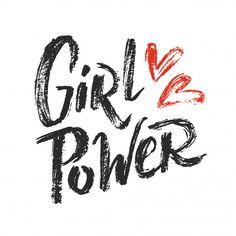 Girl power lettering 01 vector image on VectorStock Leprechaun Girl, Laura Anunnaki, Girl Power Tattoo, Grunge, Girly, Hipster Girls, Hand Drawn Lettering, Free Girl, Girls Rules