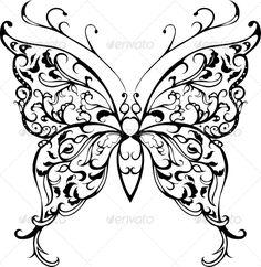 Pattern Lace Butterfly