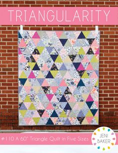 Triangularity Quilt Pattern - InColorOrder.com:  Would love to make a triangle quilt and this pattern could be it!